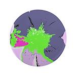 """Groovy Flower 3.5"""" Button"""