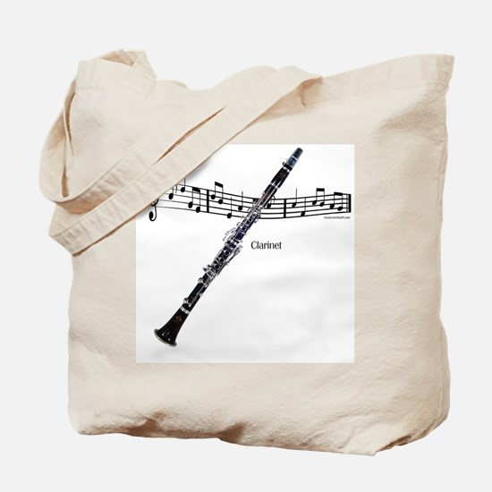 Clarinet Music Tote Bag