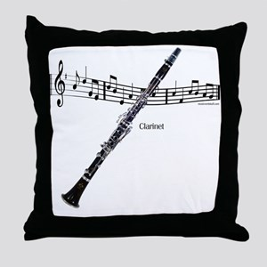 Clarinet Music Throw Pillow