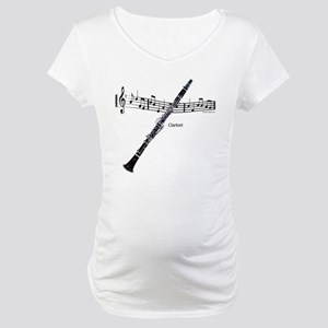 Clarinet Music Maternity T-Shirt
