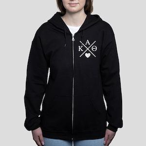 Kappa Alpha Theta Cross Women's Zip Hoodie