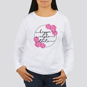 Kappa Alpha Theta Flor Women's Long Sleeve T-Shirt