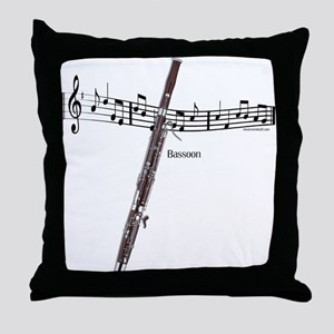 Bassoon Music Throw Pillow