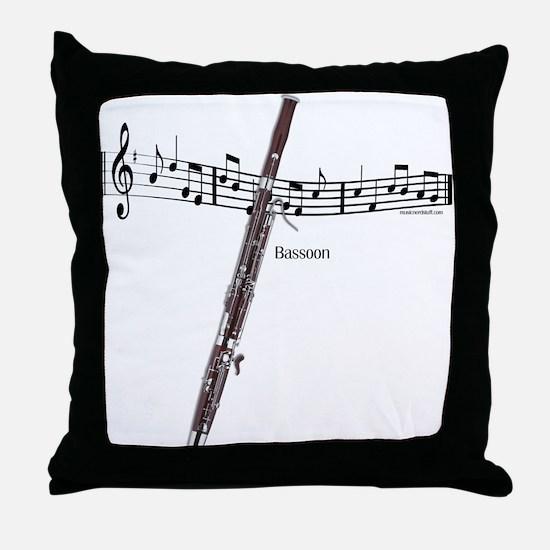 Bassoon Music Throw Pillow