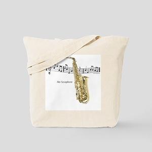Alto Sax Music Tote Bag