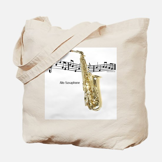Alto Sax Music Tote Bag