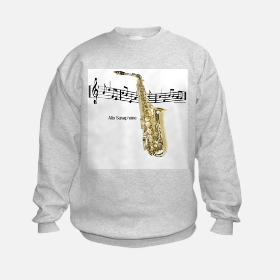 Alto Sax Music Sweatshirt