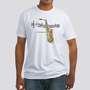 Alto Sax Music Fitted T-Shirt
