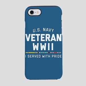 Navy Veteran WWII Pride iPhone 8/7 Tough Case