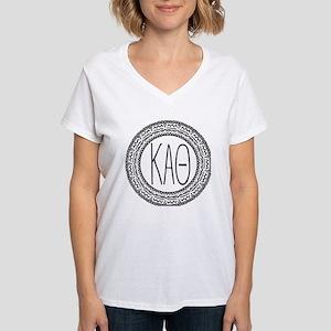 Kappa Alpha Theta Medallion Women's V-Neck T-Shirt
