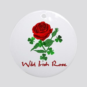 Wild Irish Rose Round Ornament