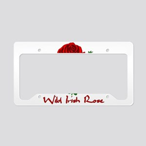 Wild Irish Rose License Plate Holder