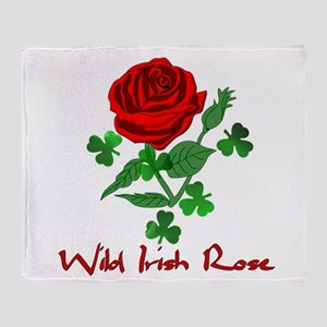 Wild Irish Rose Throw Blanket