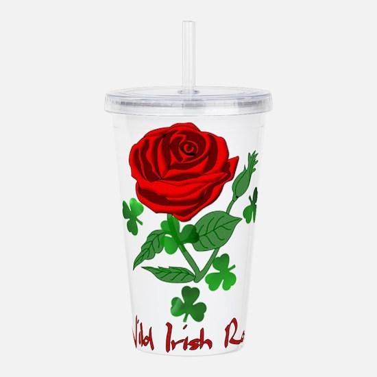 Wild Irish Rose Acrylic Double-wall Tumbler