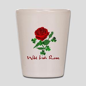 Wild Irish Rose Shot Glass