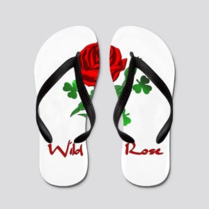 Wild Irish Rose Flip Flops