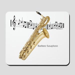 Bari Saxaphone Music Mousepad