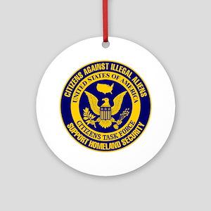 Citizens Task Force Against Illegal Aliens Ornamen