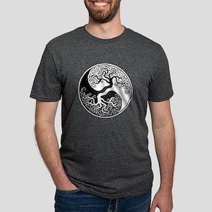 White and Black Yin Yang Tree T-Shirt