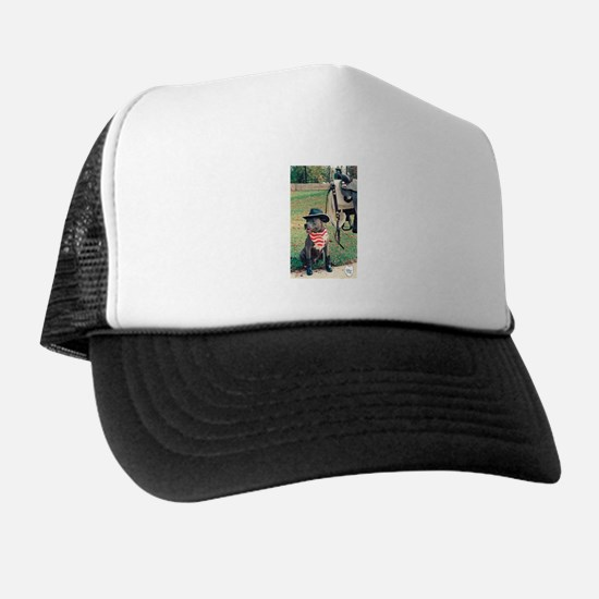 blue dog with bandana.png Trucker Hat