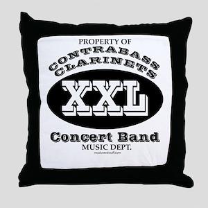 Property of Contrabass Clarin Throw Pillow