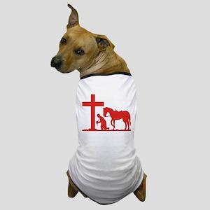 COWBOY PRAYER Dog T-Shirt