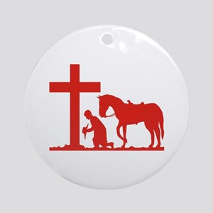 COWBOY PRAYER Keepsake (Round)
