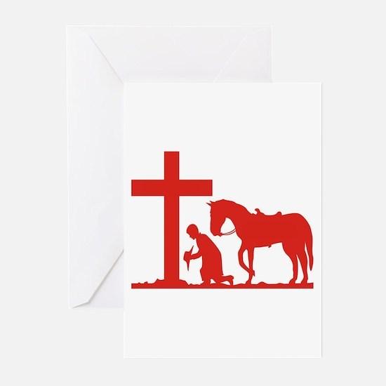 COWBOY PRAYER Greeting Cards (Pk of 10)