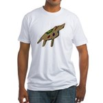 Jackson, the pop art dog Fitted T-Shirt