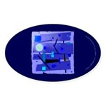 Egypt Blue Oval Sticker