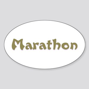 Marathon Oval Sticker