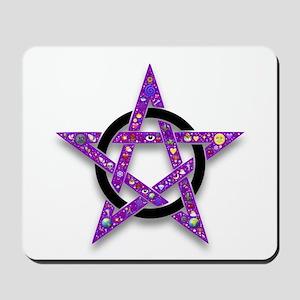 Shelly's star purple pentacle Mousepad