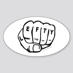 LEFTY TATTOO Oval Sticker