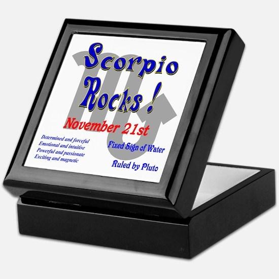 Scorpio November 21st Keepsake Box