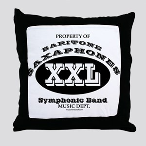 Symphonic Bari Sax Throw Pillow