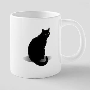 Basic Black Cat Mugs