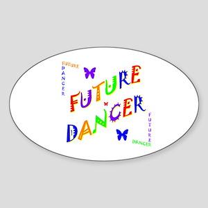 Future Dancer Kids Oval Sticker