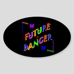 Future Dancer Kids Dark Oval Sticker