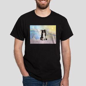 Border Collie Angel Dark T-Shirt