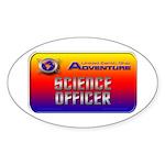 Science Officer Oval Sticker