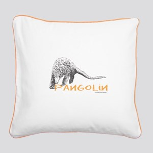 Pangolin Square Canvas Pillow