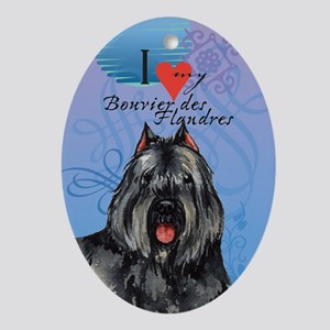 Bouvier des Flandres Oval Ornament