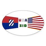 USA 3ID Oval Sticker