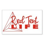 Red Tent Life Sticker
