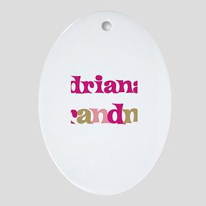 Adriana's Grandma Oval Ornament