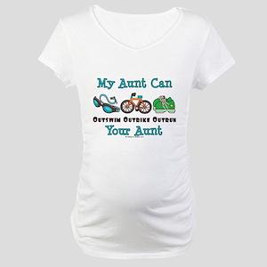 Aunt Triathlete Triathlon Maternity T-Shirt