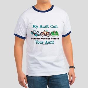 Aunt Triathlete Triathlon Ringer T