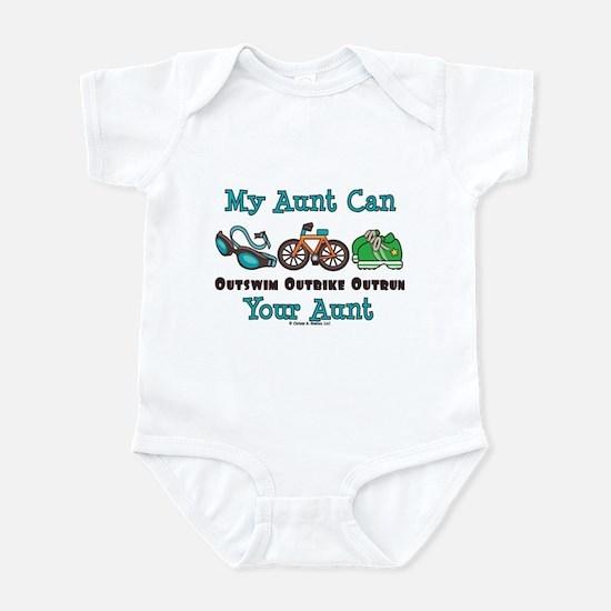 Aunt Triathlete Triathlon Infant Bodysuit