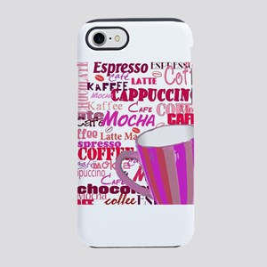Pink Coffee Words iPhone 8/7 Tough Case