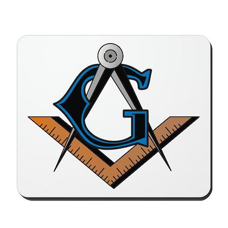Masonic Square and Compass Mousepad